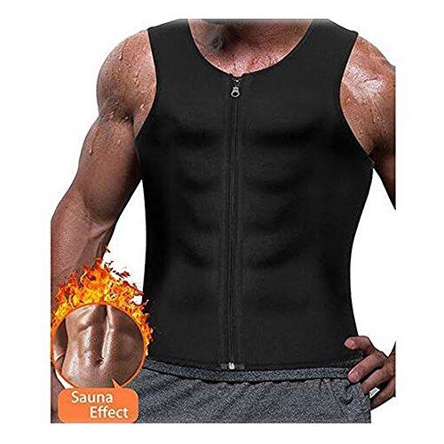 b47ff00066 Hommes taille formateur gilet pour Weightloss Hot Néoprène Corset Zipper  Compression Sweat Vest Minceur Sauna Débardeur