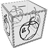 Groß 'Angebissenen Apfel' Klar Sparbüchse / Spardose (MB00063132)