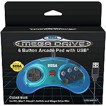 Retro - Bit SEGA MD Mini 6-B USB Azul
