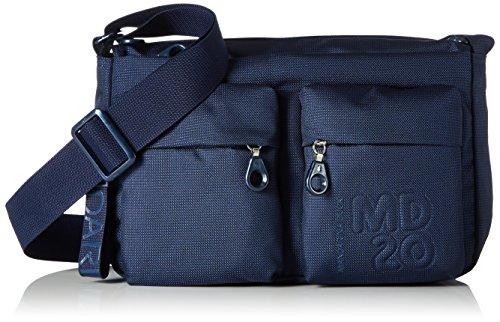 Mandarina Duck Damen Md20 Minuteria Schultertasche, 9x18x28 cm Blau (Dress Blue)