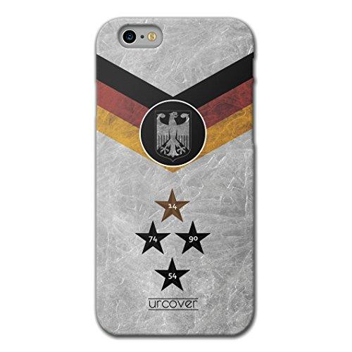 Urcover® Apple iPhone 6 Plus / 6s Plus WM 2018 Hülle [ TEAM Deutschland ] Fussball Handyhülle | Fußball Schutzhülle | Sport Case | TPU / Silikonhülle Cover | Weltmeisterschaft 2018 Backcase Fahne Fana Deutschland