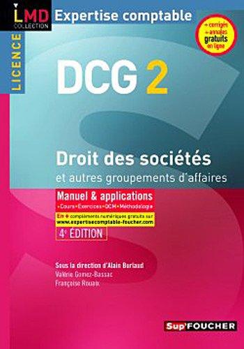 DCG 2 Droit des sociétés et autres groupements des affaires 4e édition