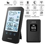 Digitales Thermometer Hygrometer MCvilla Zweckmäßig Wetterstationen Funk mit Außensensor Barometer Hintergrundbeleuchtung Uhrzeit Anzeige...