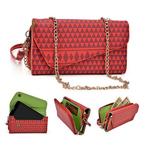 Kroo Pochette/étui style tribal urbain pour Wiko Wax/Highway Signs Multicolore - rouge Multicolore - rouge