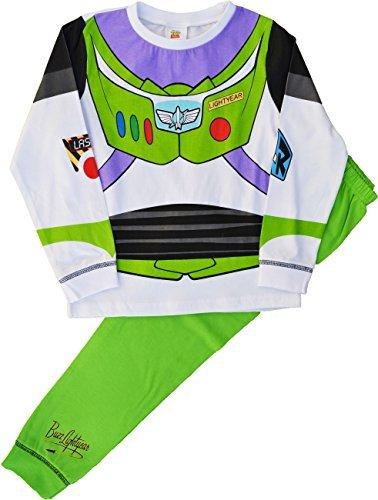 Buzz Lightyear Pyjama Schlafanzug Neuheit Toy Story Pyjama Set - Weiß, 18-24 Monate