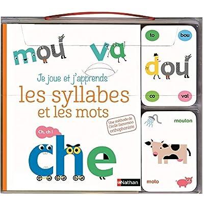 Je joue et j'apprends les syllabes et les mots - coffret cartes et livre - Dès 5 ans