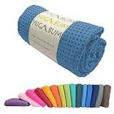 Yogabum rutschfeste Premium-Yoga-Matte Handtuch (Sea Blue)