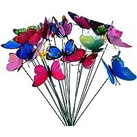 Xiton 10pcs Colorido Jardín Mariposas en Varillas