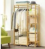 Wall CR Garderobe Einfache Garderobe Massivholz Schlafzimmer Hanger Bodenregal Lagerregal Einfache Moderne Kleiderständer