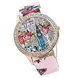 Neue Mode Frauen Runde Zifferblatt Lederband Quarz Analog sockenuhr YunYoud sportuhr schöne uhrenmarken günstige große taschenuhr chronograph fliegeruhr moderne digitaluhr