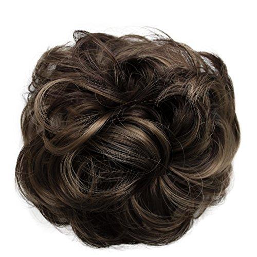 PRETTYSHOP queue de cheval postiche cheveux épaississement Chouchou updos fibre synthétique résistant à la chaleur brun mix # 32AH12 G34A