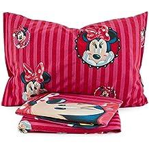 Disney Minnie Mouse Q230. Juego de sábanas de franela para cama de una plaza.