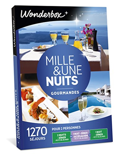 Wonderbox - Coffret cadeau noel - MILLE & UNE NUITS GOURMANDES - 1270 Week-ends...