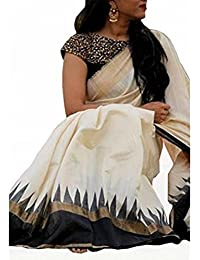 Dheylu Creation Women's Cotton Silk Saree With Blouse Piece(1038 Saree_Multicolor_Free Size)