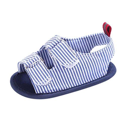 Scarpe per bambini Koly_i ragazzi della neonata morbida suola della greppia del bambino appena nato Sandali Scarpe Blue