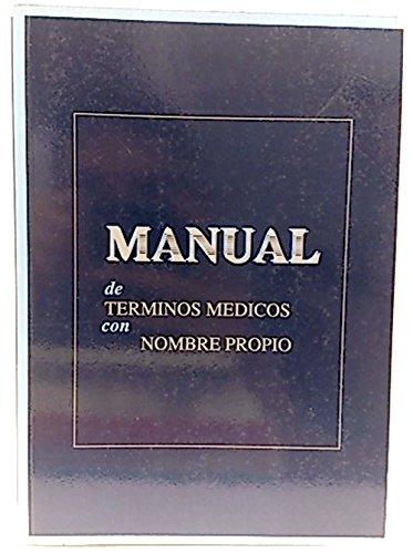 Manual de términos médicos con nombre propio