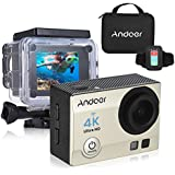 "Gold: Andoer 4K 1080P Wifi Sports Action Video Camera 16MP 2"" Ultra-HD LCD 170 Degree Wide-Angle Lens Waterproof Mini Camera Camcorder"