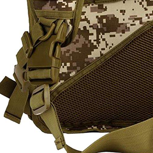 MagiDeal Molle Umhängetasche Brusttasche Herren Männer Praktische Outdoor Taktische Schultertasche, Camping Wandern Trekking Jagd Sporttasche Desert Digital