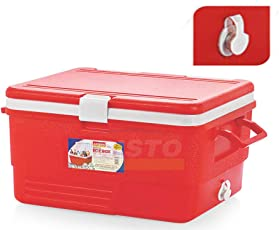 Aristo Ice Box 50L with Tap Easy to Carry (Family Pack) Red/Blue