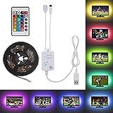 Led TV Hintergrundbeleuchtung, 2x40cm + 2x60cm Musik aktiviert Steuerung LED-Streifen-Licht-Installationssatz, flexibel USB LED-Fernsehhintergrund-Hintergrund-Streifen-Licht mit RGB IR-Fernbedienung