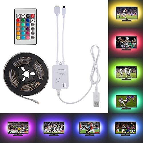 Luces de tira LED, 2x40cm + 2x60cm Control de música activado Juego de luces de tiras LED, Flexible...