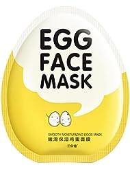 Weisy Egg Oeuf Masque Facial Hydrater Tisse Soie Soin de la Peau Jeune Glissade