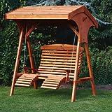 Roofed Luxury Wooden Comfort Swing Seat