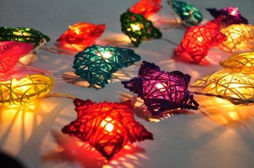 CHAINUPON Mixed-Party-Kette rota-mond-Stern, terrasse, fee, Dekoration, Kid Schlafzimmer, weihnachtsbeleuchtung Hochzeit