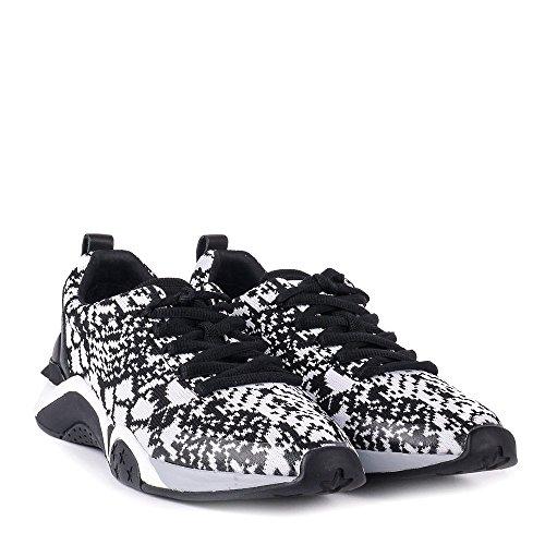 Ash Chaussures Hit Knit Baskets Gris Femme Noir
