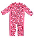 Splash About Baby Einteiliger UV-Schutzanzug, rosa (Rosa Blüte), 6-12 Monate, UVAPB6