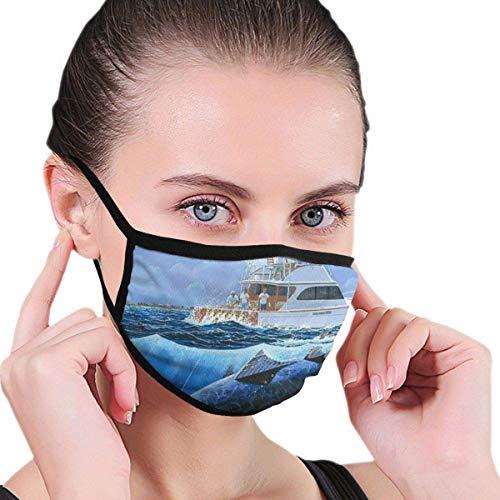 Angeln Lachs Lustige Mundmaske Unisex Erwachsene Polyester Mode Niedlichen Gesicht Abdeckung Anti Verschmutzung Staubmaske Wiederverwendbare für Frauen Mich