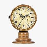 Unbekannt Doppelseitige Tischuhr Mantel Uhren Wohnzimmer Schlafzimmer Retro Massivholz Stumm Clock Desktop-Dekoration -Max Home