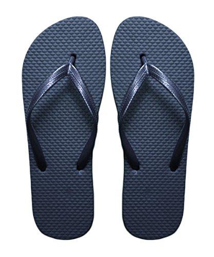 SUGAR ISLAND DAMES FILLES HOMMES été Plage Flip Flop piscine chaussures-NAVY-3/4