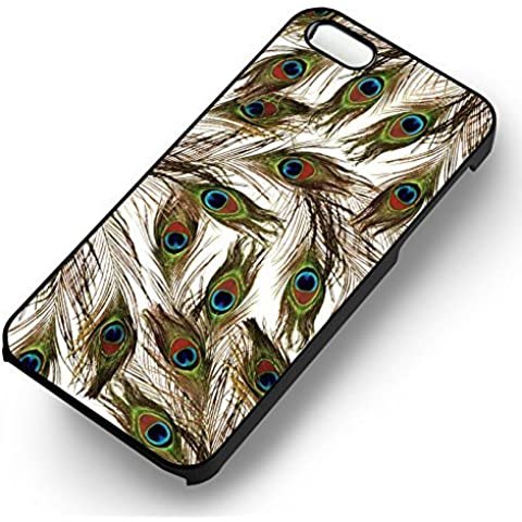 Peacock Feathers for Cover Iphone 6 and Cover Iphone 6s Case (Black Hardplastic Case) B3K4NU - Show Off Peacock