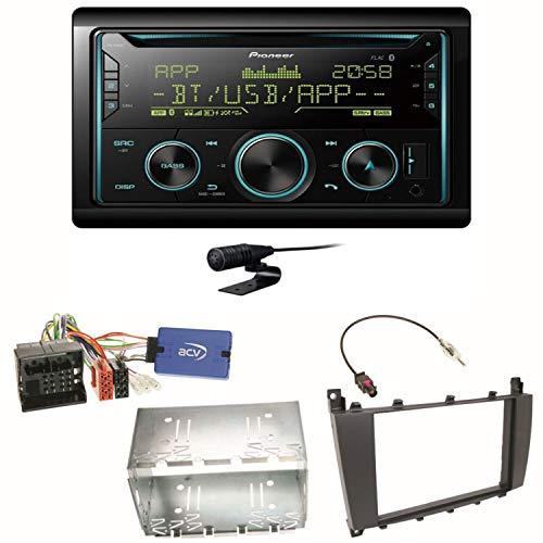 Pioneer FH-S720BT Bluetooth USB MP3 Autoradio CD FLAC WAV WMA Freisprecheinrichtung Einbauset kompatibel mit Mercedes C-Klasse W203 CLC CL203 S203