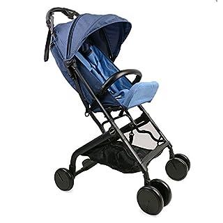 Asenart ® Einhand-Klapp Leicht und kompakt Spaziergänger Drei faltbare Kinderwagen mit 5-Punkt-Sicherheitssystem
