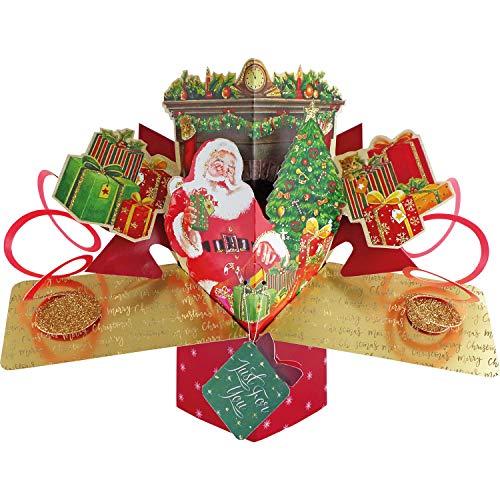 Second Nature XPOP048A - Tarjeta de felicitación de Papá Noel y Navidad