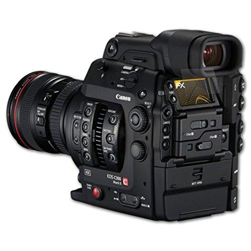 Canon EOS C300 Mark II Displayschutzfolie - 3 x atFoliX FX-Antireflex blendfreie Folie Schutzfolie