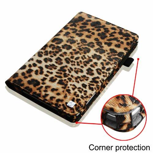 Fintie Samsung Galaxy Tab Folio Case ZA-Leopard Braun Galaxy Tab 4 7.0