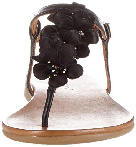 Inuovo Damen 7176 Zehentrenner Schwarz (Black)
