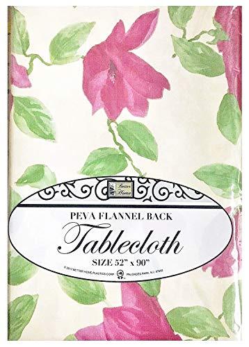 Besser Home Beige Roses Tischdecke Design PEVA Flanell Rückseite Küche Decorator 52