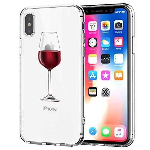 iPhone X Hülle, iPhone X Handyhülle TPU Crystal Transparent Stylisch Schutzhülle...