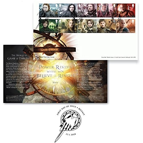Game of Thrones Stamps First Day Cover Special Postmark