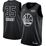 Nike NBA Golden State Warriors Kevin Durant 35 All Star Game 2018 Los Angeles Jersey Oficial Jordan Brand, Damen T-Shirt