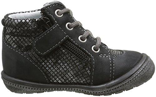 GBB Nora, Chaussures Lacées Fille Noir (21 Vte Noir/Argent Dpf/2822)
