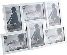 Balvi Marco Isernia Color Blanco Capacidad: 6 Fotos Tamaño de Fotos: 10x15cm para sobremesa
