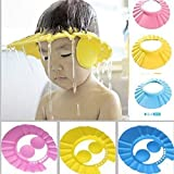 ZOSOE New Adjustable Safe Soft Bathing Baby Shower Cap Wash Hair For Children Baby Eye Ear Protector Adjustable Leaves Shape Bathing Shower/Shamoo Cap Hat Baby Shower Caps (Multicolor)