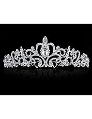 KaLaiXing® novia corona Tiara. Moda Elegante Rhinestones Princesa Corona Diadema de pelo boda Tiara novia Prom