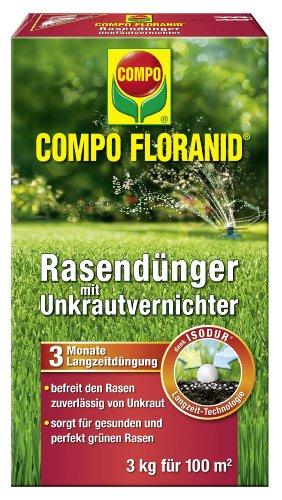 Compo Rasendünger mit Unkrautvernichter - 3kg für 100qm - 3310