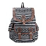 #10: DESENCE Women & Girls Stylish Backpack/Bagpack Bags for College/School/Travel -Canvas Stylish Printed- 10 liters (Multi Colour)